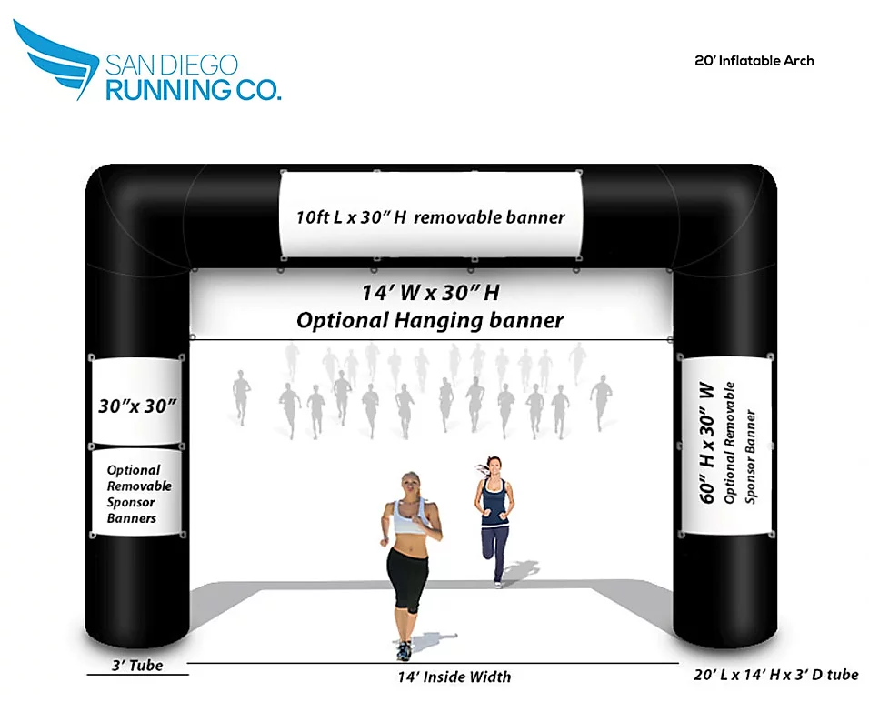 20' Race Finish Line Inflatable for Rent